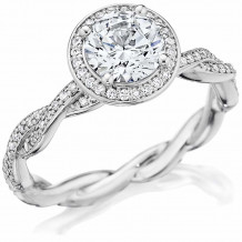 Bride2Be Platinum Twisted Engagement Ring - Z1481RR6.5S6.5P