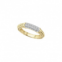 Lagos 18k Yellow Gold Caviar Diamond Ring