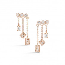 Dana Rebecca 14k Rose Gold Lisa Michelle Drop Earrings - E2688