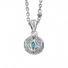 Lagos Sterling Silver Caviar Talisman Gemstone Pendant Necklace - 04-81063