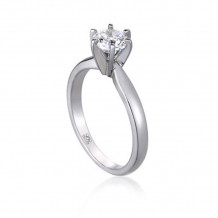 Lieberfarb Platinum Solitaire Engagement Ring - ED70996