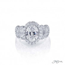 JB Star Plantinum Diamond Engagement Ring - 2639-001
