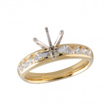 Allison Kaufman 14k Yellow Gold Diamond Semi-Mount Engagement Ring - M211-87701_Y-
