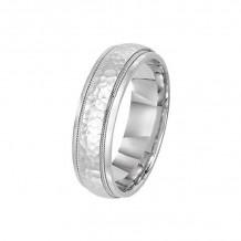 Lieberfarb 14k White Gold Men's Wedding Band - M71632