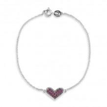 Dana Rebecca 14k White Gold Jacquie E Gemstone Bracelet - B246