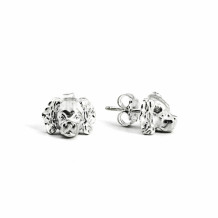 Dog Fever Sterling Silver Cavalier King Charles Spaniel Snout Earrings - DFORE00019