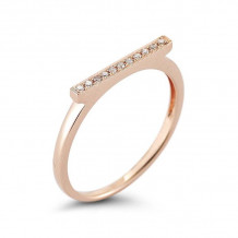 Dana Rebecca 14k Rose Gold Sylvie Rose Bar Ring - R284