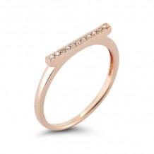 Dana Rebecca 14k Rose Gold Sylvie Rose Bar Ring - R284