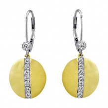 Meira T 14k Yellow Gold Diamond Disc Earrings - 1E4021