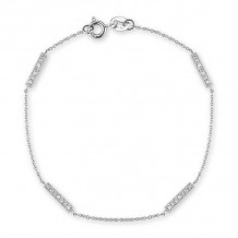 Dana Rebecca 14k White Gold Sylvie Rose Station Bracelet - B272