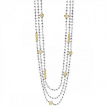 Lagos 18k Gold & Sterling Silver Caviar Icon Necklace - 04-80976-22
