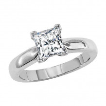 Lieberfarb Platinum Solitaire Engagement Ring - ED70843