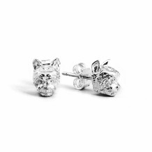 Dog Fever Sterling Silver Yorkshire Terrier Snout Earrings - DFORE00024