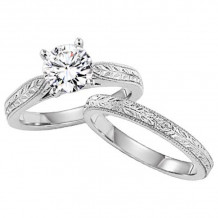 Lieberfarb Platinum Solitaire Engagement Ring - ED70877