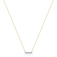 Dana Rebecca 14k Yellow Gold Sylvie Rose Bar Necklace - N201