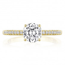 Tacori 14k Yellow Gold Coastal Crescent Straight Diamond Engagement Ring - P104RD65FY