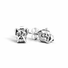 Dog Fever Sterling Silver Boxer Snout Earrings - DFORE00025