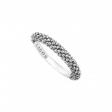 Lagos Sterling Silver Signature Caviar Stacking Ring
