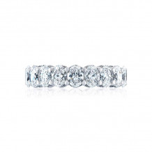 Tacori 18k White Gold RoyalT Eternity Wedding Band - HT2637W65