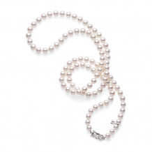 Mikimoto 18k White Gold Akoya 32 Pearl Necklace - UN801321W