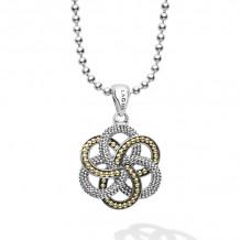 Lagos Love Knot 18k Yellow Gold & Silver Pendant - 07-81027-B34