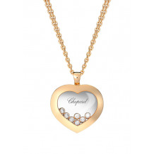 Chopard Good Happy Curves Rose Gold Diamond Heart Pendant - 15024