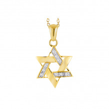 Shema 14k Yellow Gold Star Of David Necklace - IR2188Y