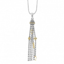 Lagos 18k Gold & Sterling Silver Caviar Icon Caviar Tassel Pendant Necklace - 07-80832-ML