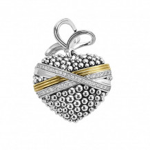 Lagos 18k Gold & Sterling Silver Beloved Heart Pendant