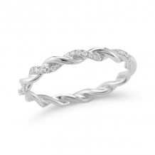 Dana Rebecca 14k White Gold Carly Brooke Eternity Band - R689