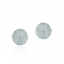 Phillips House 14k White Gold Mini Infinity Stud Diamond Earrings - E20019DW