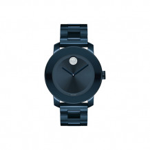 Mid-size Movado Bold Ink Blue Ion-Plated Stainless Steel Women's Watch - 3600388