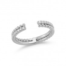 Dana Rebecca 14k White Gold Poppy Rae Double Band - R922