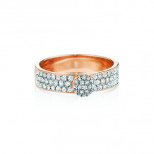 Phillips House 14k Rose Gold Affair Stackable Diamond Ring - R0115DR