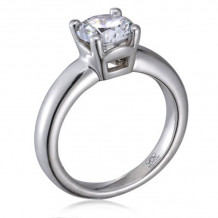 Lieberfarb Platinum Solitaire Engagement Ring - ED70959
