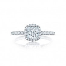 Tacori Platinum Petite Crescent Straight Engagement Ring