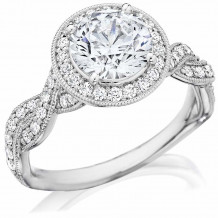 Bride2Be Platinum Twisted Engagement Ring - Z1460RR7.4P