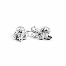 Dog Fever Sterling Silver Poodle Snout Earrings - DFORE00016
