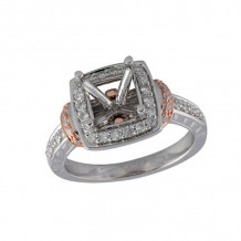 Allison Kaufman Two Tone 14k Gold Diamond Semi-Mount Engagement Ring - M212-77674_TR-