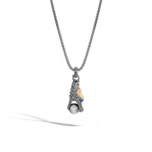 John Hardy Sterling Silver and 18k Yellow Gold Legends Men's Necklace - NMZS60127BRDEG-JR