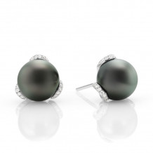 Mikimoto 18k White Gold Embrace Pearl Earrings - MEA10157BDXW