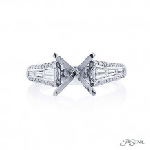 JB Star Platinum Diamond Semi-Mount Engagement Ring - 5248-001