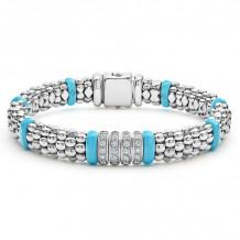 Lagos Silver Diamond Bracelet - 05-81336-CT7