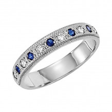 Lieberfarb Platinum Sapphire & Diamond Wedding Band - LD71656
