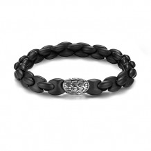 John Hardy Classic Chain Collection Batu Black Agate Gentlemen's Bracelet - BMS995751BKAXM