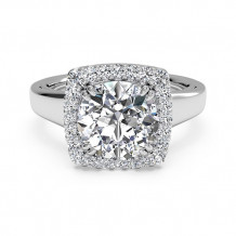 Ritani Cushion French-Set Halo Diamond Engagement Ring - 1R3780
