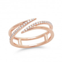 Dana Rebecca 14k Rose Gold Sarah Leah Diamond Band - R875
