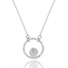Phillips House 14k White Gold Diamond Infinity Loop Necklace - N1708DW