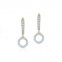 Phillips House 14k Yellow Gold Hero Clip Drop Diamond Earrings - E3004DY
