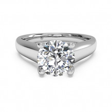Ritani Solitaire Diamond Engagement Ring with Pave Tulip Detail - 1R3245
